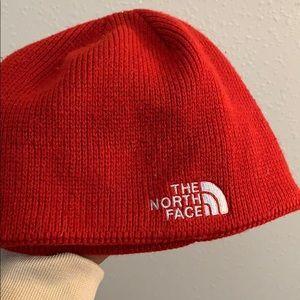 Northface red bennie hat